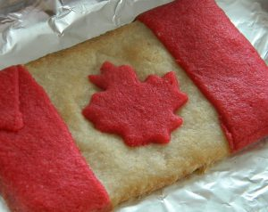 Canada Flag cookie