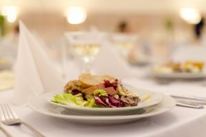 Food catering on wedding day